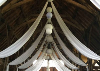 wedding barn draping