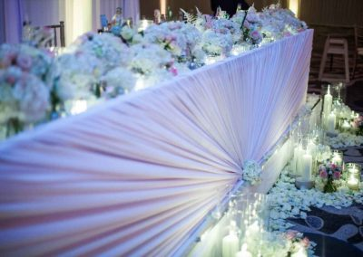 top table draping
