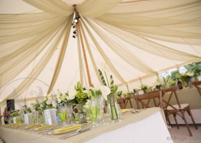 king pole marquee draping