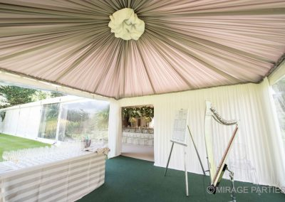 entrance marquee draping