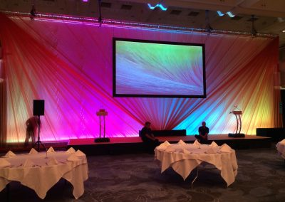 stage draping backdrop