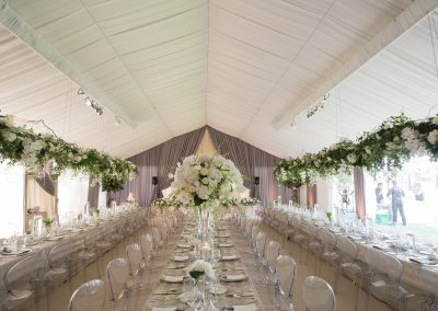 marquee draping wedding