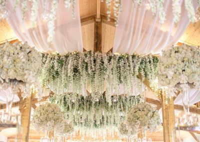 barn wedding drapes